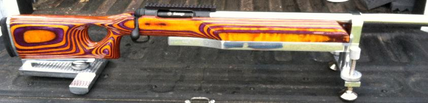 Custom stocks savage 212 double purple and white sciox Images